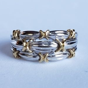 18k Two Tone Ring